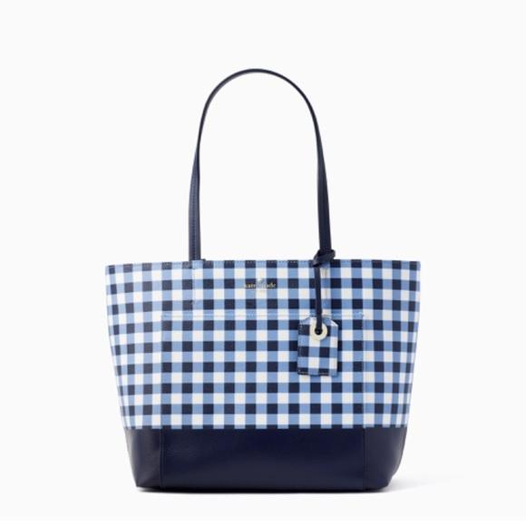 54c9910d1600 kate spade Handbags - NWT Kate Spade Hyde Lane Gingham Riley Tote